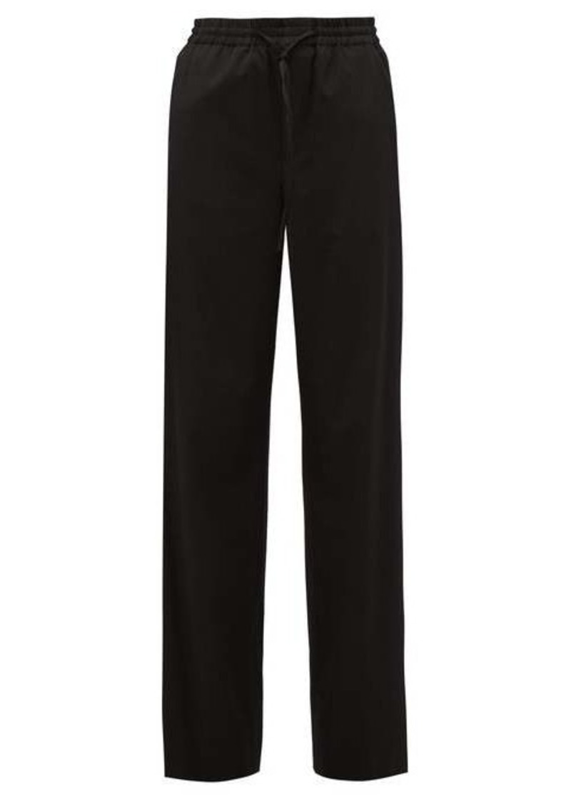 Maison Margiela Drawstring-waist virgin-wool blend trousers
