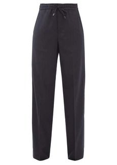 Maison Margiela Drawstring-waist wool-blend twill trousers