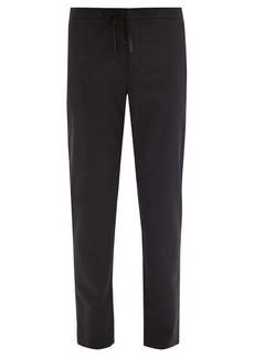 Maison Margiela Drawstring-waist wool slim-leg trousers