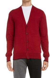 Maison Margiela Elbow Patch Cotton & Wool Cardigan
