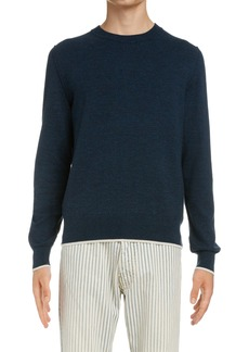 Maison Margiela Elbow Patch Cotton & Wool Sweater