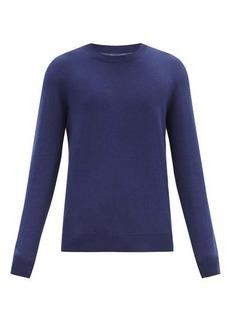 Maison Margiela Elbow-patch cotton-blend sweater