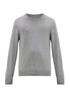 Maison Margiela Elbow-patch crew-neck cotton-blend sweater