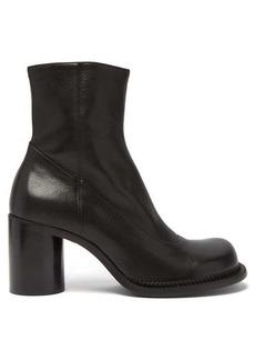 Maison Margiela Exaggerated-toe leather boots