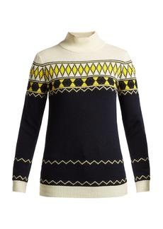 Maison Margiela Fair Isle intarsia-knit wool-blend sweater