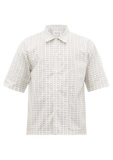 Maison Margiela Fragile print cotton-poplin bowling shirt