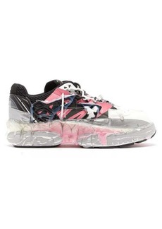 Maison Margiela Fusion hand-painted leather low-top trainers