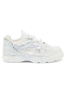 Maison Margiela Fusion leather and mesh trainers