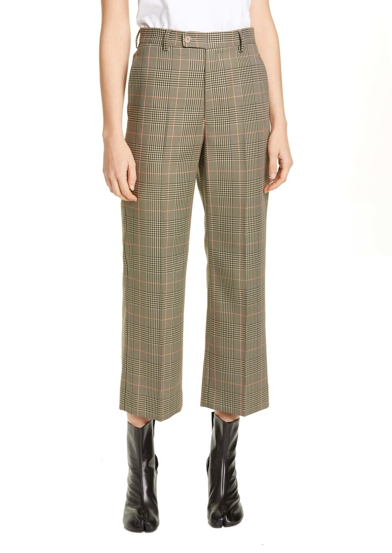Maison Margiela Galles Plaid Crop Pants
