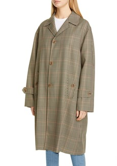 Maison Margiela Galles Plaid Oversized Coat