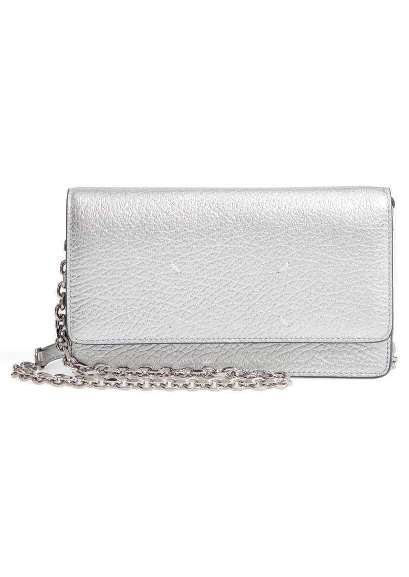 Maison Margiela Glam Slam Metallic Leather Wallet on a Chain