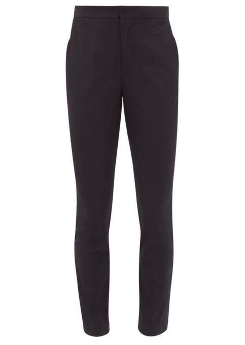Maison Margiela High-rise slim-fit gabardine trousers