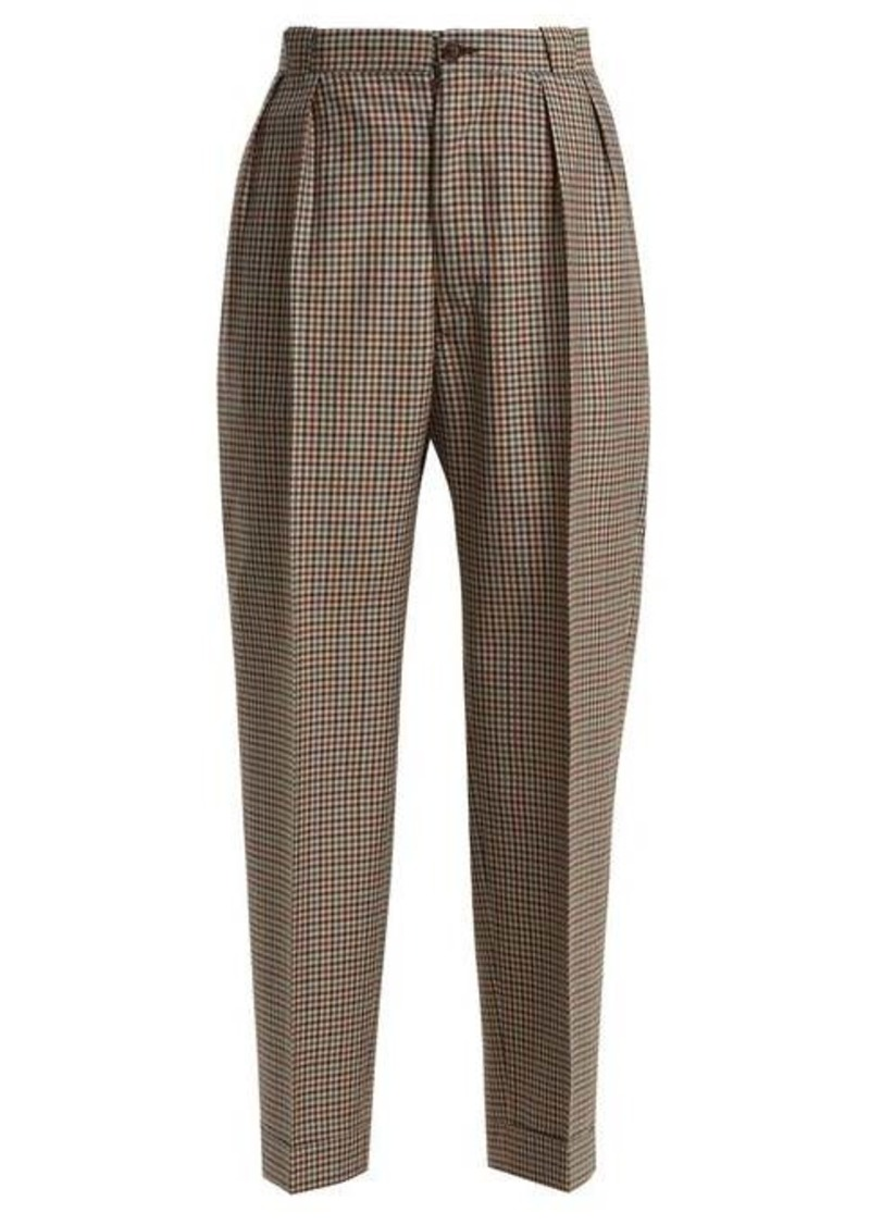 Maison Margiela High-waist tweed trousers