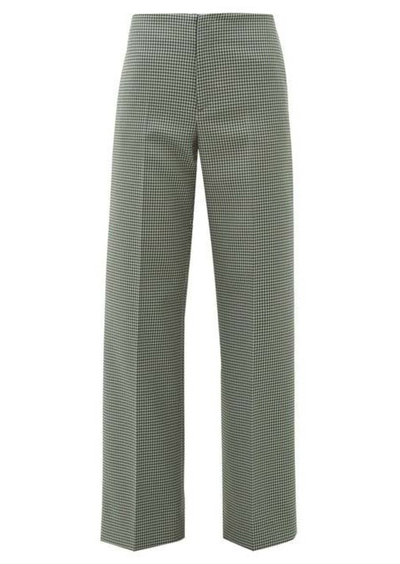 Maison Margiela Houndstooth flared trousers