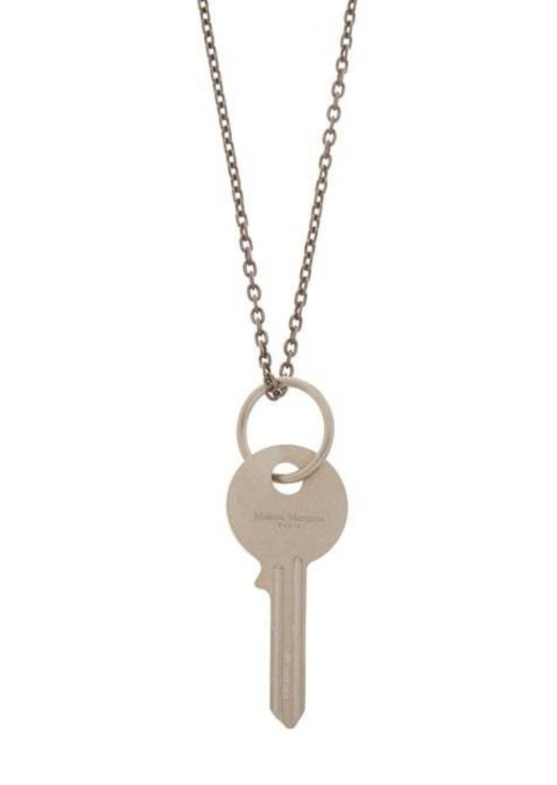 Maison Margiela Key-charm silver necklace