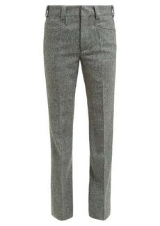 Maison Margiela Kick-flare herringbone wool cropped trousers