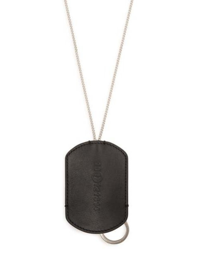 Maison Margiela Leather and chain key-ring necklace