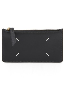 Maison Margiela Leather Zip Card Case