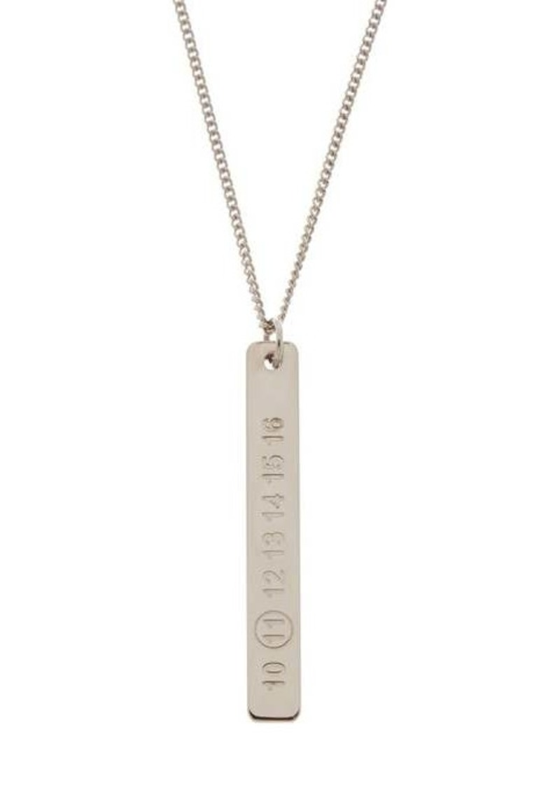 Maison Margiela Logo-engraved silver necklace