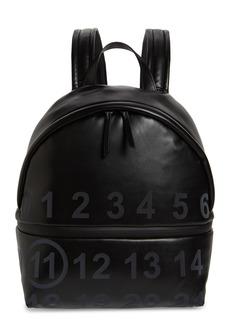 Maison Margiela Medium Number Print Faux Leather Backpack