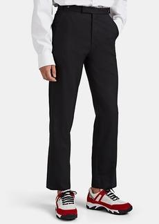 Maison Margiela Men's Satin-Trimmed Wool-Mohair Tuxedo Trousers