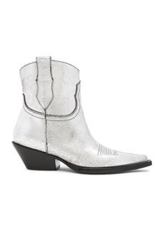 Maison Margiela Metallic Short Western Boots
