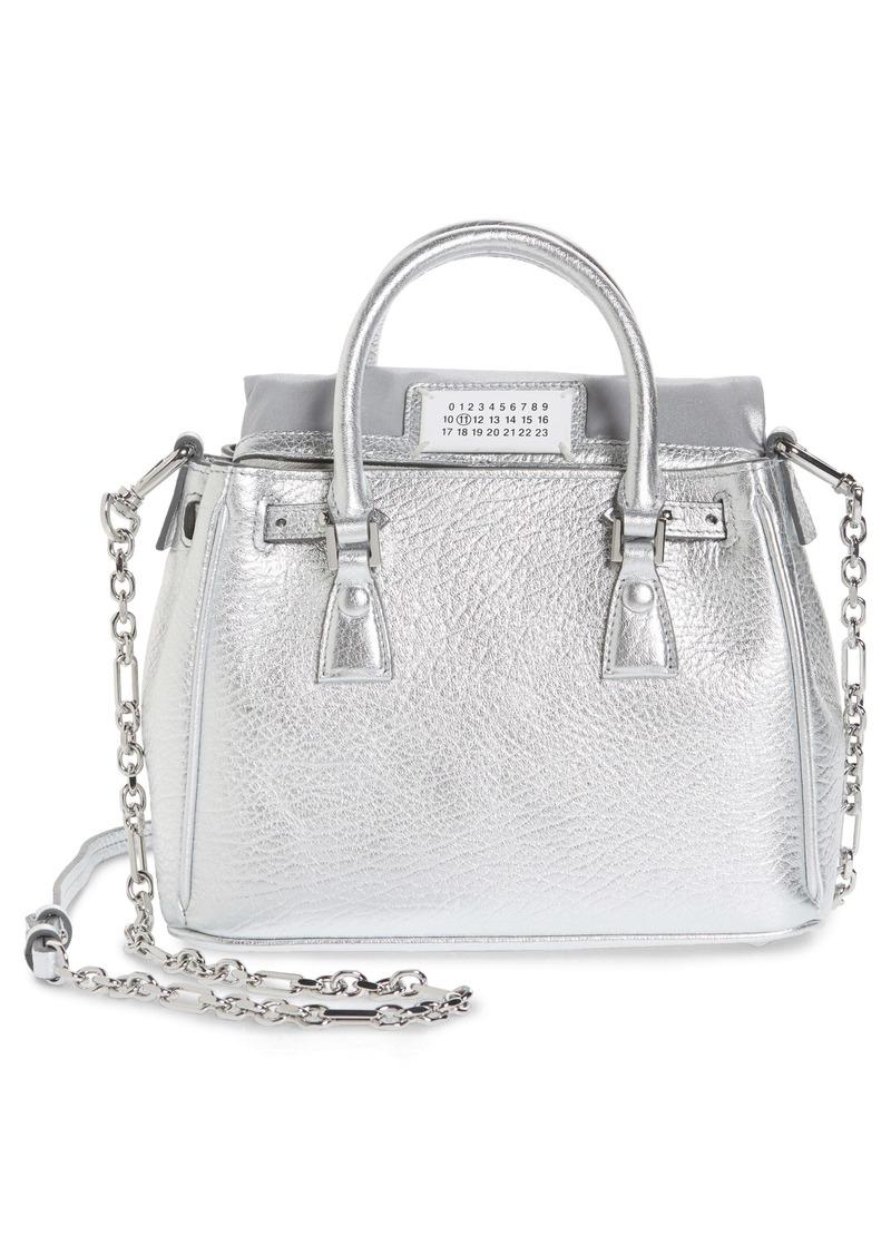 Maison Margiela Mini 5AC Flap Metallic Leather Shoulder Bag
