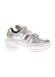 Maison Margiela Mirror Effect Silver Leather Sneakers