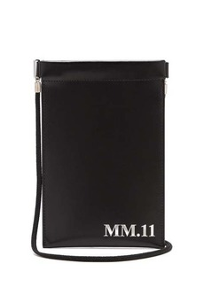Maison Margiela MM.11-embossed leather phone pouch