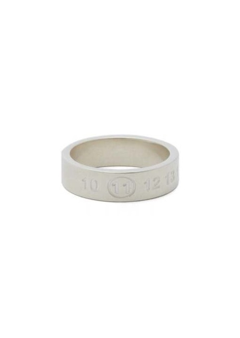 Maison Margiela Numbers-engraved sterling silver ring