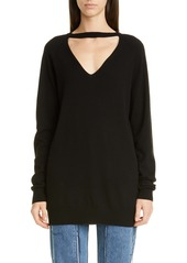 Maison Margiela Open Neck Cashmere Sweater
