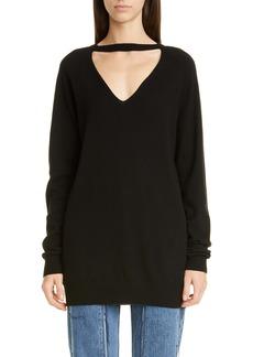 Maison Margiela Open Neck Cashmere Sweater