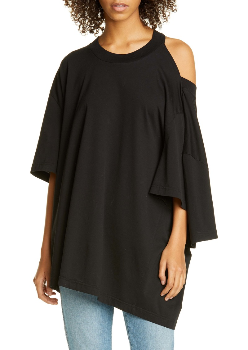 Maison Margiela Oversize Cold Shoulder Cotton Tee