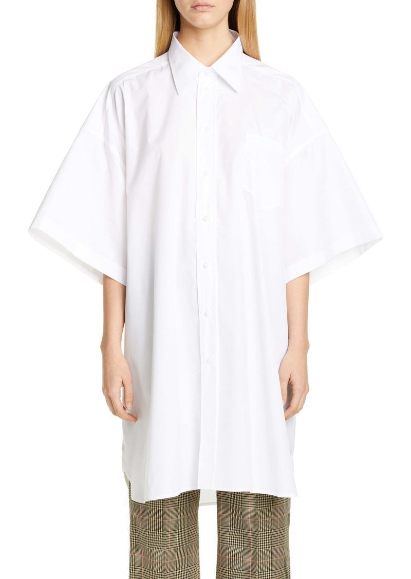 Maison Margiela Oversize Cotton Poplin Shirt