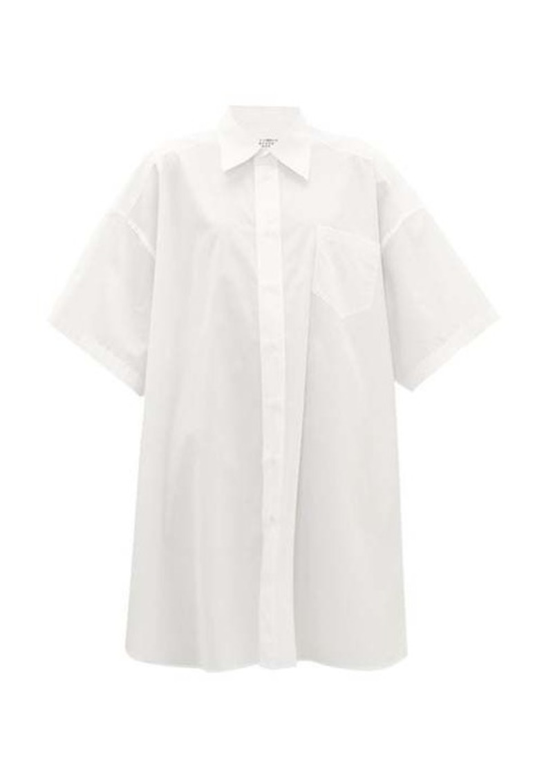 Maison Margiela Oversized cotton-poplin shirt dress