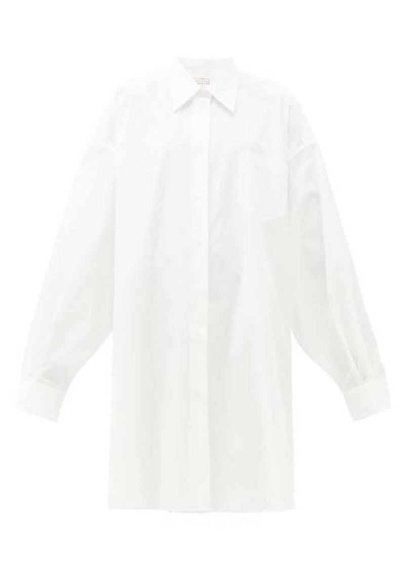 Maison Margiela Oversized cotton shirtdress