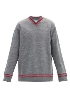 Maison Margiela Oversized distressed V-neck sweater