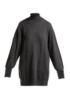 Maison Margiela Oversized elbow-patch wool roll-neck sweater