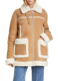 Maison Margiela Oversized Genuine Shearling Jacket