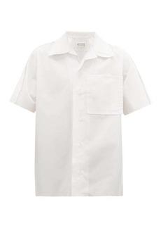 Maison Margiela Oversized raw-edged cotton-poplin shirt