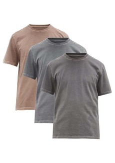 Maison Margiela Pack of three washed-cotton jersey T-shirts