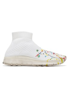 Maison Margiela Paint-splattered knit sock trainers