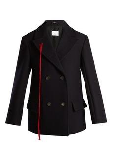 Maison Margiela Peak-lapel double-breasted wool coat