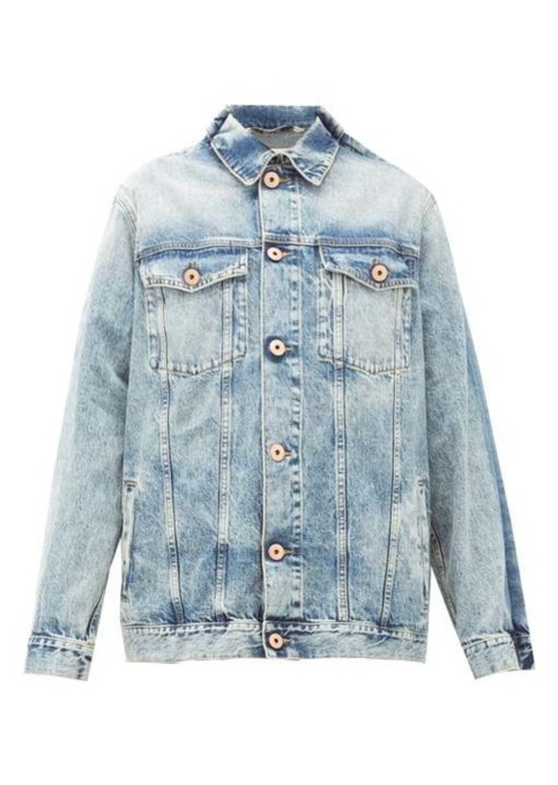 Maison Margiela Pinched-shoulder washed-denim jacket