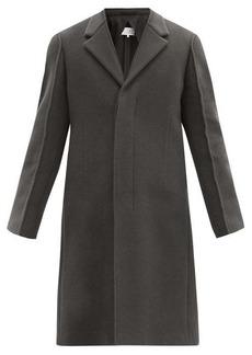 Maison Margiela Piped-seam longline wool-blend felted coat