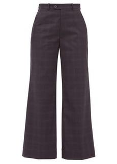 Maison Margiela Plaid tailored cotton trousers