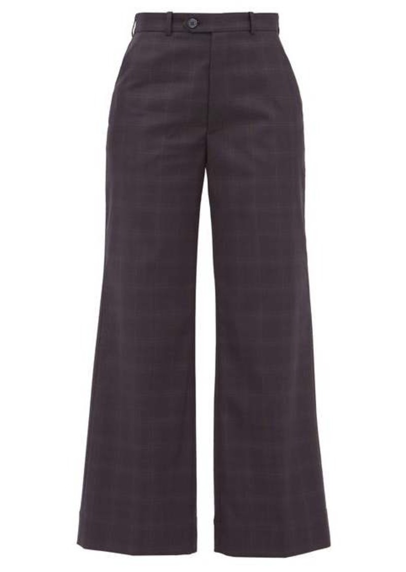 Maison Margiela Plaid tailored cotton trousers