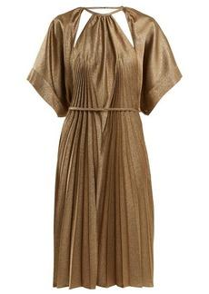 Maison Margiela Pleated cut-out dress