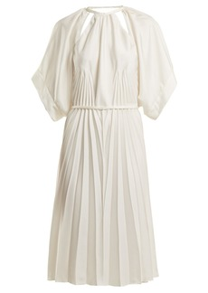 Maison Margiela Pleated cut-out satin dress