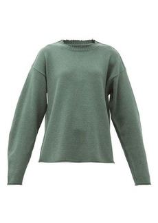 Maison Margiela Raw-edge wool-blend sweater